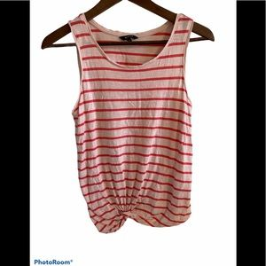 3/&30 RW&CO stripped tank top with bottom knot